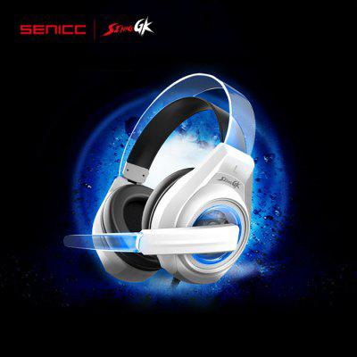SENICC G241 Gaming Headsets with Mic Voice Control LED Light