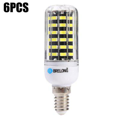 6 x BRELONG E14 1200Lm 12W SMD5733 64 LED Corn Light