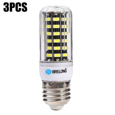 3 x BRELONG 1200Lm E27 12W SMD 5733 64 LED Corn Light