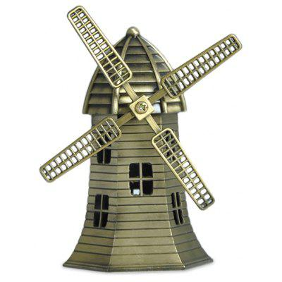 DECAKER Netherland Windmill World Famous Landmark Aluminum Alloy Architecture Home Office Decor