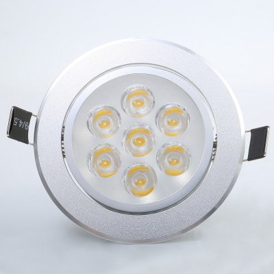 YouOkLight 7W 680LM 3000K Dimming LED DownlightCeiling Lights<br>YouOkLight 7W 680LM 3000K Dimming LED Downlight<br><br>Beam Angle: 180 Degree<br>Brand: YouOKLight<br>Features: Wired, Round Shape, Dimmable<br>Hole Size: 96mm<br>LED Number : 7<br>Luminous Flux: 680LM<br>Optional Light Color: Warm White,White<br>Package Contents: 1 x LED Downlight<br>Package size (L x W x H): 12.00 x 9.40 x 9.50 cm / 4.72 x 3.70 x 3.74 inches<br>Package weight: 0.206 kg<br>Product size (L x W x H): 10.80 x 10.80 x 6.30 cm / 4.25 x 4.25 x 2.48 inches<br>Product weight: 0.149 kg<br>Sheathing Material: Aluminum<br>Type: Recessed Down Lights<br>Voltage (V): AC85-265<br>Wattage (W): 7<br>Wavelength / CCT: 3000K,6000K
