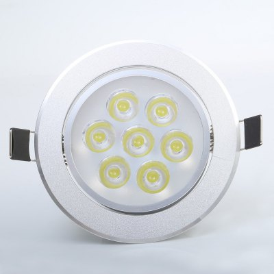 YouOkLight 7W 680LM 6000K Dimming LED DownlightCeiling Lights<br>YouOkLight 7W 680LM 6000K Dimming LED Downlight<br><br>Beam Angle: 180 Degree<br>Brand: YouOKLight<br>Features: Wired, Round Shape, Dimmable<br>Hole Size: 96mm<br>LED Number: 7<br>Luminous Flux: 680LM<br>Optional Light Color: Warm White,White<br>Package Contents: 1 x LED Downlight<br>Package size (L x W x H): 12.00 x 9.40 x 9.50 cm / 4.72 x 3.7 x 3.74 inches<br>Package weight: 0.206 kg<br>Product size (L x W x H): 10.80 x 10.80 x 6.30 cm / 4.25 x 4.25 x 2.48 inches<br>Product weight: 0.149 kg<br>Sheathing Material: Aluminum<br>Type: Recessed Down Lights<br>Voltage (V): AC85-265<br>Wattage (W): 7<br>Wavelength / CCT: 3000K,6000K