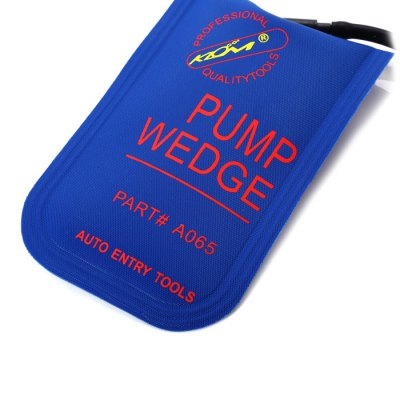 KLOM Small Air Pump Wedge Door Lock OpenerLock Picks and Tools<br>KLOM Small Air Pump Wedge Door Lock Opener<br><br>Brand: Klom<br>Color: Blue<br>Material: Gum<br>Package Contents: 1 x Small Air Bag, 1 x Pump<br>Package size (L x W x H): 24.30 x 15.20 x 4.10 cm / 9.57 x 5.98 x 1.61 inches<br>Package weight: 0.116 kg<br>Packing Type: Single Piece<br>Product weight: 0.086 kg<br>Special function: Air Pump Wedge