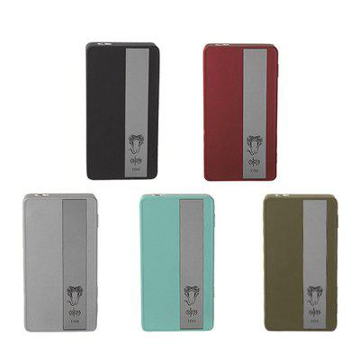 Vapmod Cobra T150 TC VW Box ModTemperature Control Mods<br>Vapmod Cobra T150 TC VW Box Mod<br><br>510 Connector Type: Spring Loaded<br>Accessories type: MOD<br>APV Mod Wattage: 150W<br>APV Mod Wattage Range: 101-150W<br>Atomizer Connector Diameter: 26mm<br>Available Color: Black,Blue,Green,Red,Silver<br>Battery Cover Type: Magnetic<br>Battery Form Factor: 18650<br>Battery Quantity: 2pcs ( not included )<br>Brand: Vapmod<br>Material: Zinc Alloy<br>Mod: Temperature Control Mod,VV/VW Mod<br>Package Contents: 1 x Vapmod Cobra Vapmod T150 TC VW Box Mod, 1 x USB Cable, 1 x English User Manual<br>Package size (L x W x H): 13.20 x 6.90 x 4.60 cm / 5.2 x 2.72 x 1.81 inches<br>Package weight: 0.350 kg<br>Product size (L x W x H): 5.56 x 2.60 x 10.20 cm / 2.19 x 1.02 x 4.02 inches<br>Product weight: 0.250 kg<br>Temperature Control Range: 200 - 600F, 100 - 300C<br>Type: Electronic Cigarettes Accessories