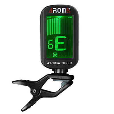 AROMA AT - 203A Portable Clip-on Electric Tuner Backlit Screen for Chromatic Guitar Bass Violin