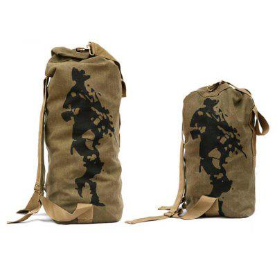 FREE SOLDIER 33L Canvas Tactical Backpack Barrel Bag