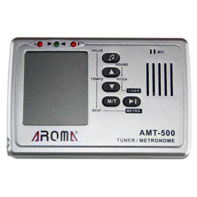 AROMA AMT - 500 3 in 1 Big Screen Metronome Tuner 30-260bpm and Tone Generator Support Chromatic Guitar