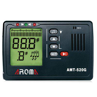 AROMA AMT - 520G 3 in 1 Big Screen Zither Metronome Tuner 30-260bpm and Tone Generator Support Chromatic