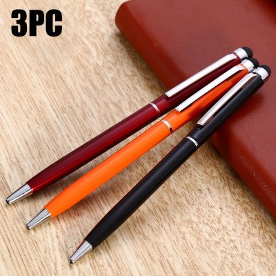 3PCS YQ08 2 in 1 Capacitive Pen / Ballpoint Pen for Touchscreen