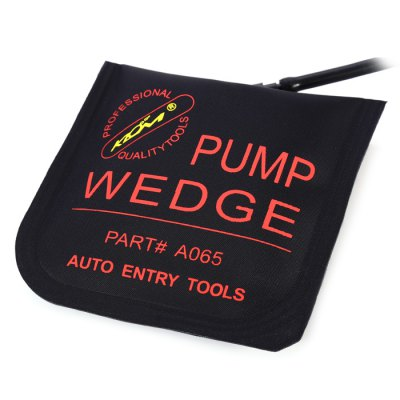KLOM Medium Air Pump Wedge Door Lock OpenerLock Picks and Tools<br>KLOM Medium Air Pump Wedge Door Lock Opener<br><br>Brand: Klom<br>Color: Black<br>Materials: Gum<br>Package Contents: 1 x Large Air Wedge, 1 x Pump<br>Package size (L x W x H): 24.10 x 17.90 x 4.10 cm / 9.49 x 7.05 x 1.61 inches<br>Package weight: 0.120 kg<br>Packing Type: Single Piece<br>Product weight: 0.091 kg<br>Special function: Air Pump Wedge