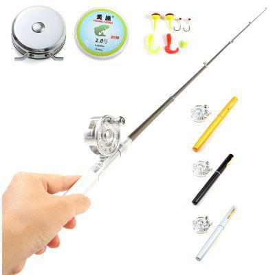 Portable 1m Aluminum Alloy Fish Rod Pen Set