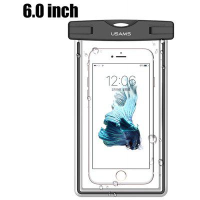 Buy BLACK USAMS YD002 6.0 inch Mobile Waterproof Protective Case for $7.63 in GearBest store