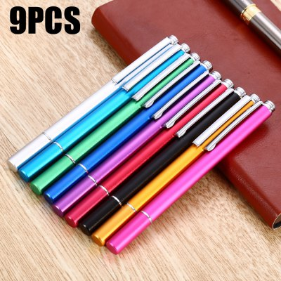 9PCS XP09 Aluminum Alloy Capacitive Touch Pen Fine Point Stylus