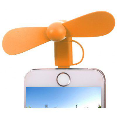 Portable 2 in 1 8 Pin Micro USB Mini Fan für Smartphones
