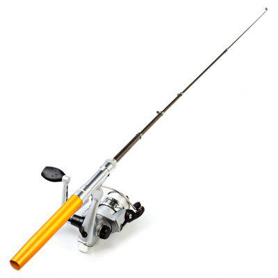 Portable Aluminum Alloy Fish Rod Pen with Spinning Reel
