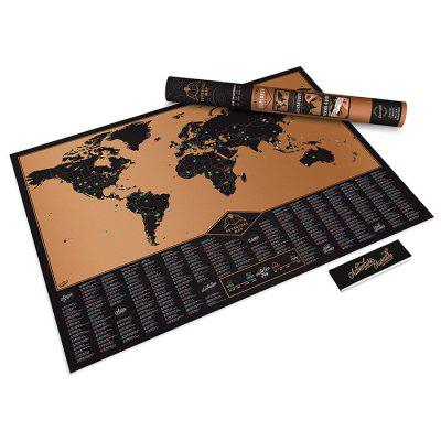 Large Size Personalized Scratch-off Adventure Map Poster Travel Toy - 32.4 x 23 inch