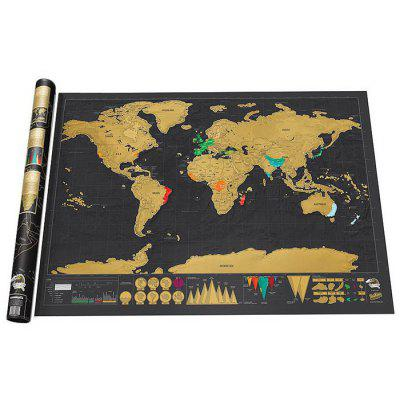 Wall World Scratch Map - 32.4 x 23 inch