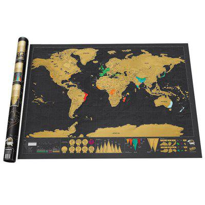 Large size personalized scratch off world map poster travel toy large size personalized scratch off world map poster travel toy 324 x 23 inch gumiabroncs Choice Image