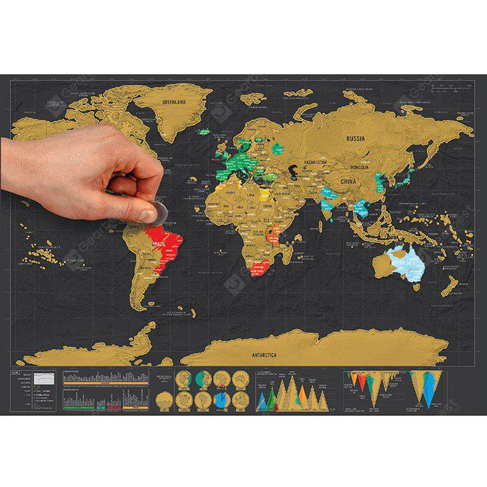 Large Size Personalized Scratch-off World Map Poster Travel Toy - 16.6 x 11.8 inch | Gearbest