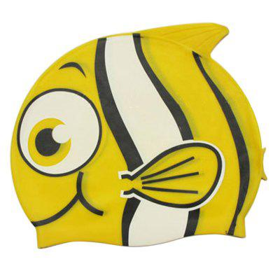 SBART Kids Children Cartoon Silicone Swimming Cap