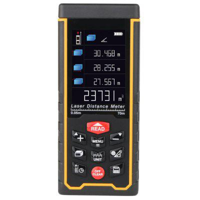 RZAS50 Digital Laser Distance Meter Rangefinder 70m Range with LCD Display