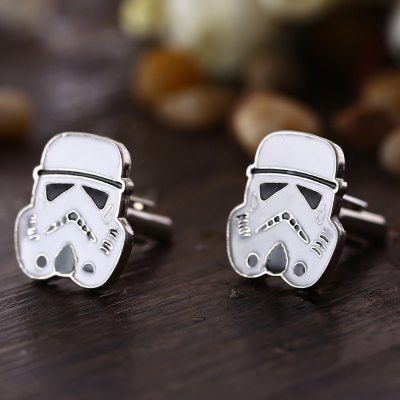 White Soldier Shape Cufflinks