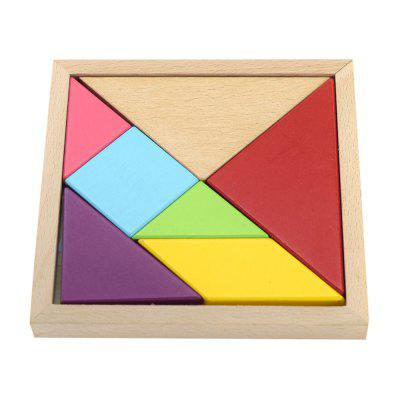 Maikou MK518 Educational Wooden Tangram Toy Simple Jigsaw Puzzle Birthday Gift