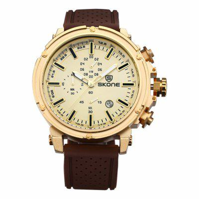 Buy COFFEE AND GOLDEN SKONE 3917 Working Sub-dials Men Quartz Watch for $27.99 in GearBest store