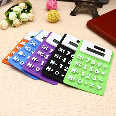 Buy COLORMIX RJSQ5 Silicone Solar Calculator 5PCS Colorful Calculator for $11.23 in GearBest store