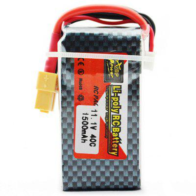 ZOP Power ZOP 1500mAh 11.1V 40C Battery XT60 Plug for RC Airplane / Boat