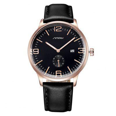 SINOBI 4100 Working Sub-dial Unisex Quartz WatchMens Watches<br>SINOBI 4100 Working Sub-dial Unisex Quartz Watch<br><br>Band material: PU Leather<br>Band size: 24.5 x 1.87 cm / 9.65 x 0.74 inches<br>Brand: Sinobi<br>Case material: Alloy<br>Clasp type: Pin buckle<br>Dial size: 4 x 4 x 1.06 cm / 1.57 x 1.57 x 0.42 inches<br>Display type: Analog<br>Movement type: Quartz watch<br>Package Contents: 1 x SINOBI 4100 Unisex Working Sub-dial Quartz Watch<br>Package size (L x W x H): 25.50 x 5.00 x 2.06 cm / 10.04 x 1.97 x 0.81 inches<br>Package weight: 0.080 kg<br>People: Female table,Male table<br>Product size (L x W x H): 24.50 x 4.00 x 1.06 cm / 9.65 x 1.57 x 0.42 inches<br>Product weight: 0.045 kg<br>Shape of the dial: Round<br>Special features: Date<br>Watch color: Blacak and Gold, Black and Silver, Coffee, White and Brown<br>Watch style: Business<br>Water resistance : 30 meters