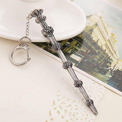 Keyring Pendant Decoration Magic Wand Shape Alloy Key Chain Movie Product