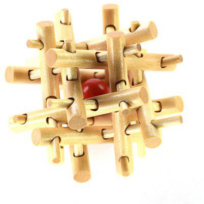 Maikou MK532 Fence Shape Unlock Puzzle Toy Wooden Three-dimensional Jigsaw