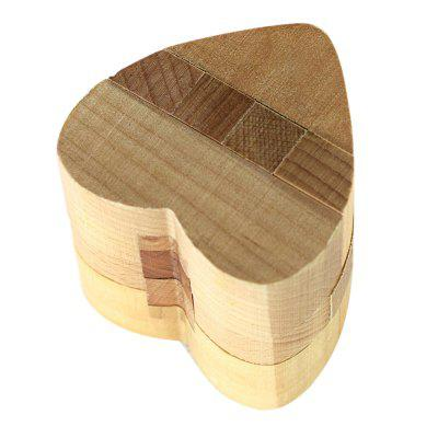 Maikou MK509 Heart Shape Unlock Puzzle Toy Wooden Three-dimensional Jigsaw