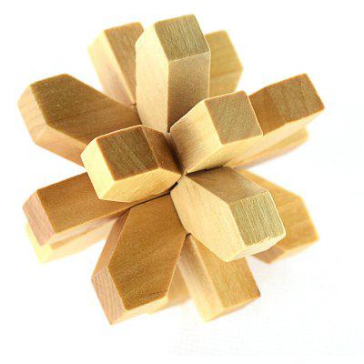 Maikou MK508 Plum Flower Shape Unlock Puzzle Toy Wooden Three-dimensional Jigsaw