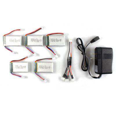 Remote Control Quadcopter Spare Parts 7.4V 450mAh Battery for Cheerson CX - 32 5Pcs