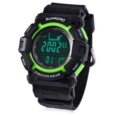 SUNROAD FR711A Waterproof Fishing Barometer Watch Pocket Fishing Aid - Black