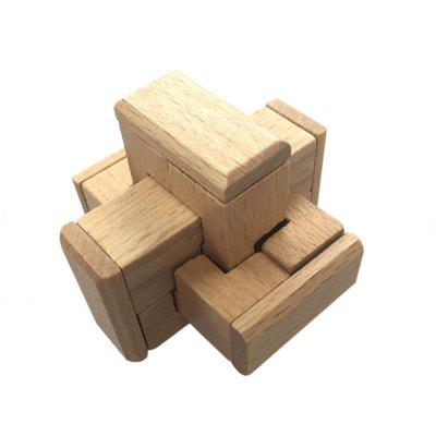 Maikou MK526 Cabinet Shape Unlock Puzzle Toy Wooden Three-dimensional Jigsaw