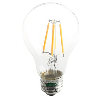 Buy WARM WHITE LIGHT Zweihnder 400Lm E27 A60 4W COB LED Edison Bulb for $3.57 in GearBest store