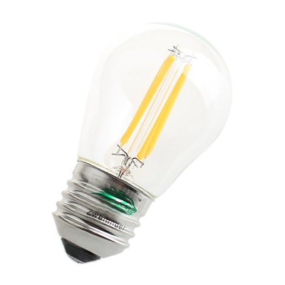 Zweihnder G45 4W 400Lm E27 COB LED Edison BulbEdison Bulbs<br>Zweihnder G45 4W 400Lm E27 COB LED Edison Bulb<br><br>Angle: 360 degree<br>Available Light Color: Warm White<br>Brand: Zweihnder<br>CCT/Wavelength: 3000-3500K<br>Emitter Types: COB<br>Features: Long Life Expectancy, Energy Saving<br>Function: Studio and Exhibition Lighting, Home Lighting, Commercial Lighting<br>Holder: E14,E27<br>Luminous Flux: 400LM<br>Output Power: 4W<br>Package Contents: 1 x Zweihnder LED Edison Bulb<br>Package size (L x W x H): 12.00 x 6.20 x 6.20 cm / 4.72 x 2.44 x 2.44 inches<br>Package weight: 0.041 kg<br>Product size (L x W x H): 8.50 x 5.20 x 5.20 cm / 3.35 x 2.05 x 2.05 inches<br>Product weight: 0.017 kg<br>Sheathing Material: Glass<br>Total Emitters: 4<br>Type: Edison Bulb<br>Voltage (V): AC 220-240