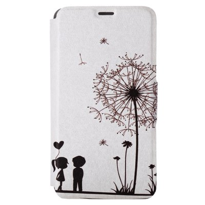 Kinston Card Holder PU Leather Phone Cover Case with Dandelion Design for Huawei Ascend P7