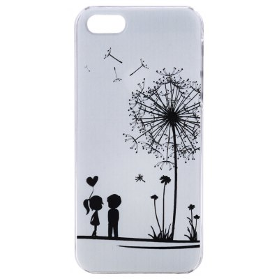 Kinston PC Material Protective Back Case Cover Dandelion Pattern for iPhone SE / 5 / 5S