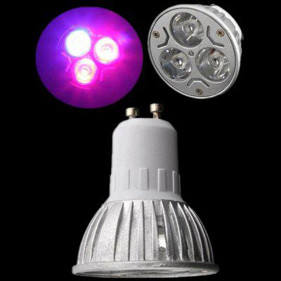 6W GU10 Hydroponics LED Plant Grow Light 2 Red + 1 Blue LED