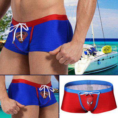 AUSTINBEM Male Cartoon Hero Swimming Boxers