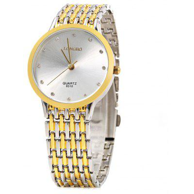 LONGBO 8310 Business Style Cross Color Strap Women Quartz Watch