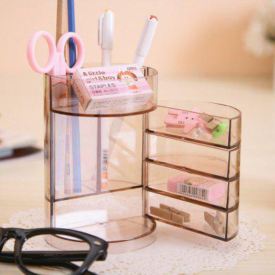 Deli Plastic Round Transparent Pen Container for OfficeDesk Organizers<br>Deli Plastic Round Transparent Pen Container for Office<br><br>Brand: Deli<br>Material: Plastic<br>Package Contents: 1 x Pen Container<br>Package size (L x W x H): 14.00 x 9.00 x 9.00 cm / 5.51 x 3.54 x 3.54 inches<br>Package weight: 0.310 kg<br>Product size (L x W x H): 13.50 x 8.80 x 8.80 cm / 5.31 x 3.46 x 3.46 inches<br>Product weight: 0.295 kg