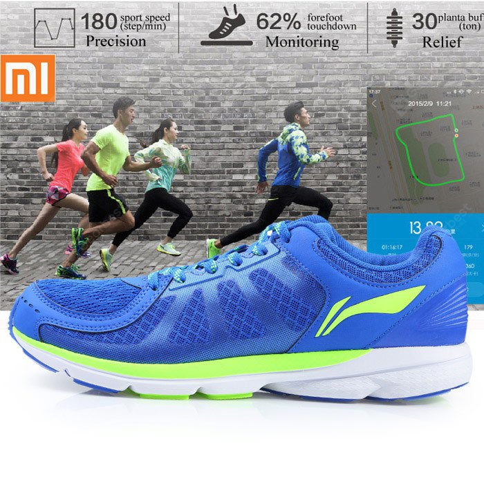hot sale online cd430 b4aba GearBest Maroc:Smart Running Shoes with Bulit-in Xiaomi Mi Chips Livraison  Rapide