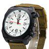 Weesky Casual Style Men Quartz Watch with Big Decorative Crown - WHITE