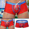 AUSTINBEM Male Cartoon Hero Swimming Boxers - RED