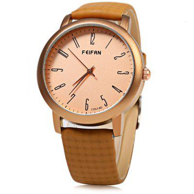 FeiFan C053 - 8 Business Style Grid Pattern Strap Men Quartz Watch